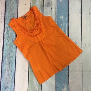 Tory Burch Orange Embroidered Cotton Tank Top 8